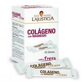 Ana Mª LaJusticia Colágeno con Magnesio sabor Fresa (20 sticks)
