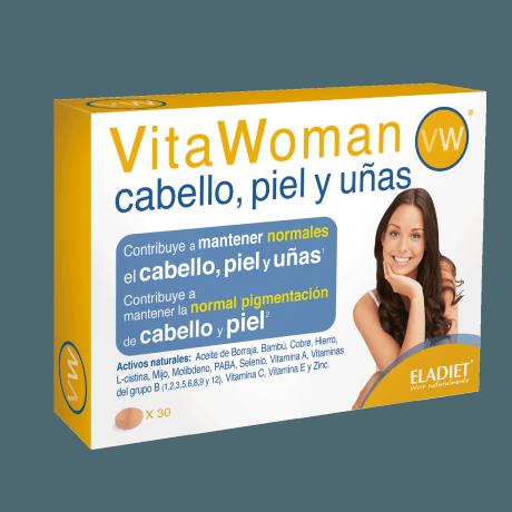 Eladiet Vitawoman Cabello, Piel y uñas (30 comprimidos.)