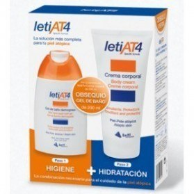 Leti AT4 Pack (Crema corporal 200ml. + Gel de baño dermograso 200 ml.)