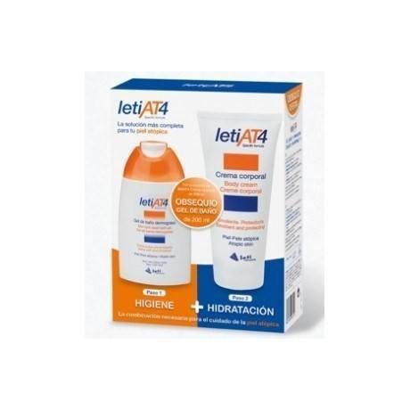 Leti AT4 Pack (Crema corporal 200ml. + Gel de baño dermograso 200 ml.)