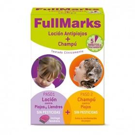 FullMarks Pack Ahorro Kit Tratamiento Antipiojos y Liendres (Locion 100 ml. + Champu 150ml)