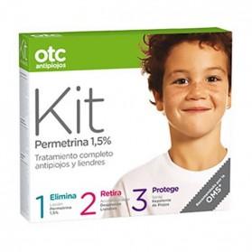 Otc Antipiojos Kit permetrina 1,5% (Loción Per. + Acondicionador + Spray Repelente)