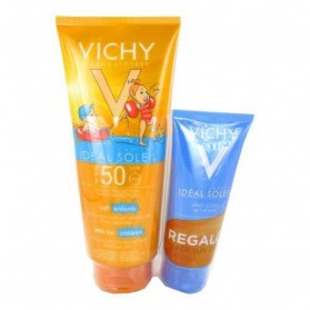 Vichy Solar IP50 niños leche 300ml + REGALO after sun 100ml