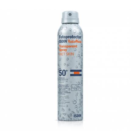 Isdin Pediatrics Fotoprotector Wet Skin Transparent Spray SPF50+ (200 ML).