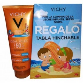 Vichy Ideal Soleil Leche Solar Niños SPF 50 (300 ml.) + Tabla Hinchable