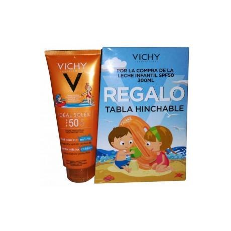 Vichy Ideal Soleil Leche Solar Niños SPF 50 (300 ml.) + Tabla Hinchable