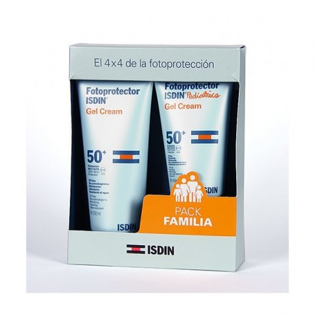 Isdin Pack Familia (Fotoprotector Isdin Pediatrics Gel Cream SPF50 (150 ml.) + Fotoprotector Isdin Gel Cream SPF 50 (200 ml.))