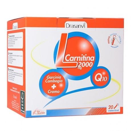 Drasanvi L-Carnitina 2000 mg 20 viales x 15 ml Sabor Limón