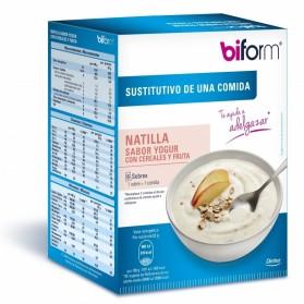 Biform Natilla Sabor Yogur con Cereales y Fruta Dietisa (6 sobres de 60 gramos)