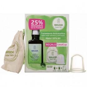 WELEDA Pack Aceite Anticelulitis Abedul + Celulicup 2ª Unidad 25% de Descuento (2 x 100 ML+Celulicup)