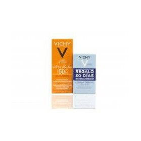 Vichy ideal Soleil Emulsion Tacto Seco (50 ml.) + Regalo Aqualia Thermal Crema Ligera 30 días