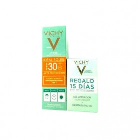 Vichy ideal Soleil Tratamiento Corrector Matificante Anti Imperfecciones SPF 30 (50 ml.) + Regalo Gel Normaderm + Dermablend 3D
